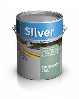Lata de pintura para demarcación vial. Silver PInturas.
