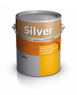 Lata de pintura para maderas. Silver Pinturas.