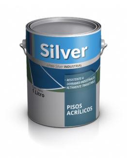 Lata de pintura para pisos acrílicos. Silver Pinturas.